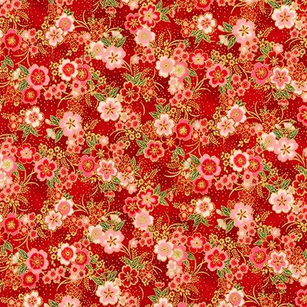 Imperial Collection 15 - Small Flowers - Red