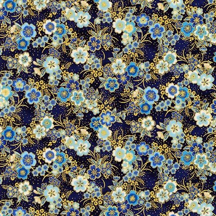 Imperial Collection 15 - Small Flowers - Navy