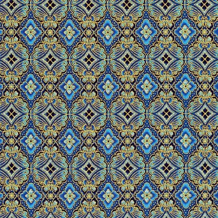 Imperial Collection 15 - Butterfly Tiles - Navy