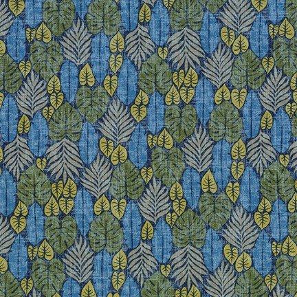 Island Paradise - Leaves - Blue