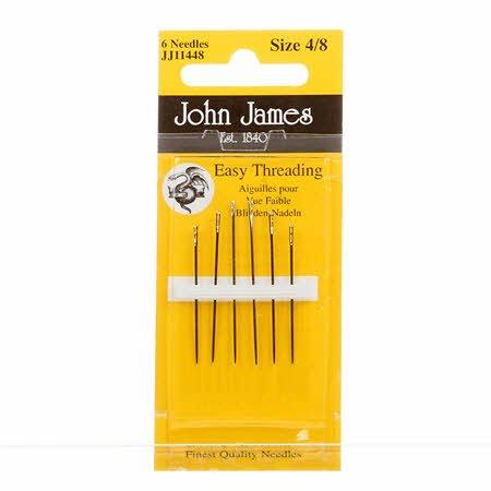 John James Self/Easy Threading Needles Assorted Sizes 4/8 (6 ct)