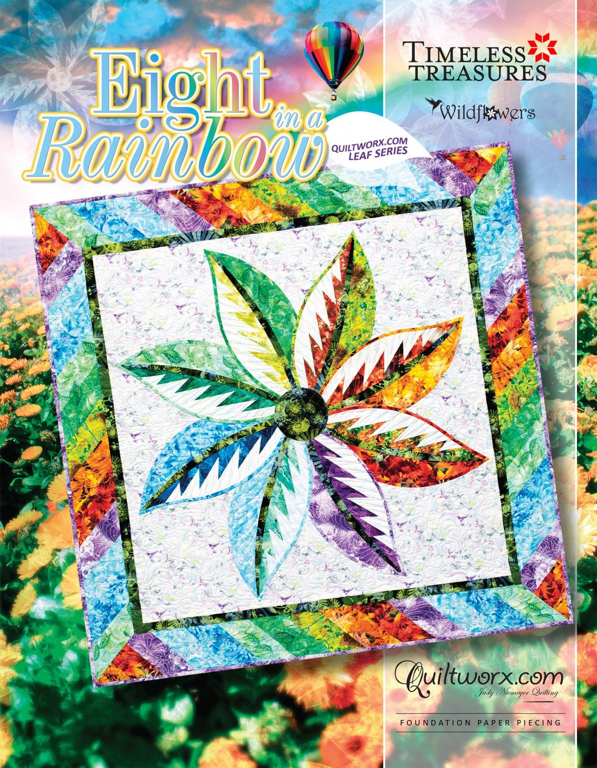 Eight In a Rainbow - Quiltworx Leaf Series