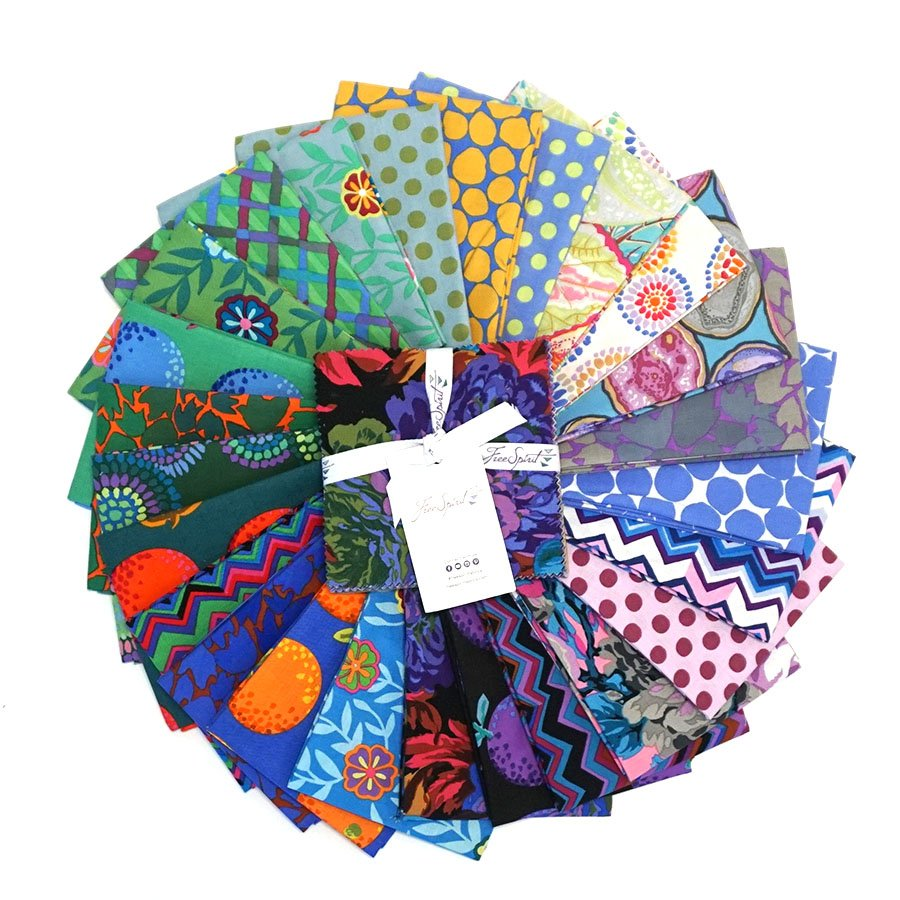 Kaffe Fassett Collective Charm Pack - February 2020 - Cool (42 pcs)