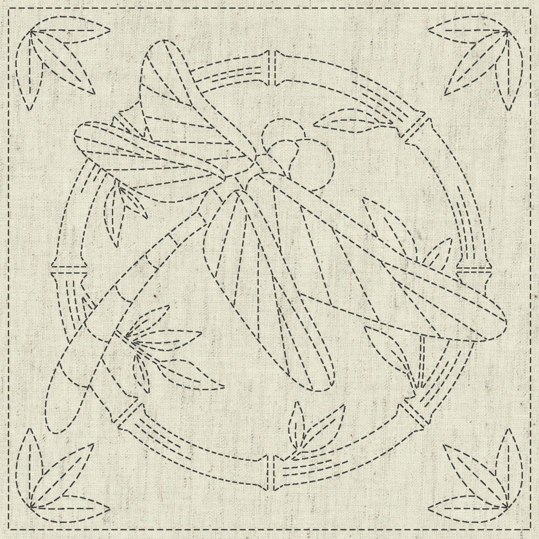 QH Textiles Sashiko Cloth - Summertime - Linen