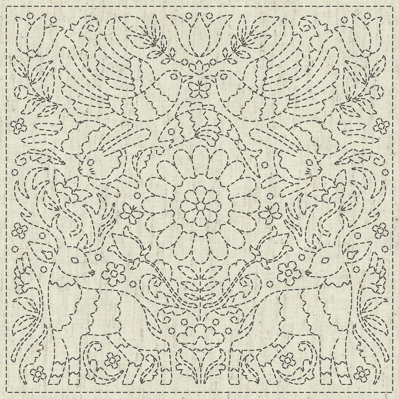QH Textiles Sashiko Cloth - Good News