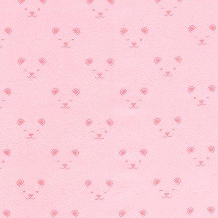 Little Savannah Flannel - Tonal Faces - Pink