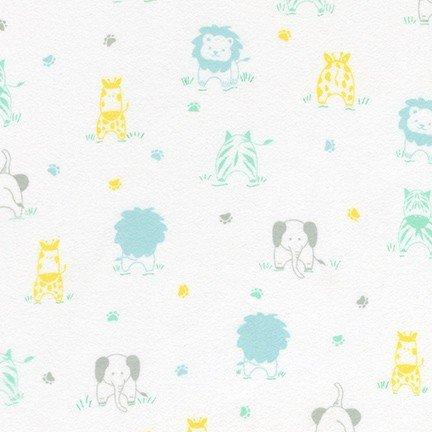 Little Savannah Flannel - Tossed Animals - Pastel