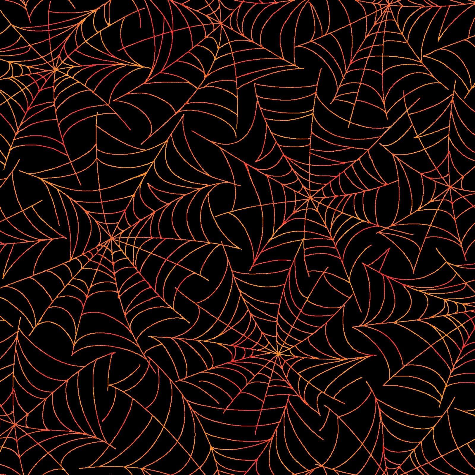 Broomhilda's Bakery - Spiderweb - Black/Orange