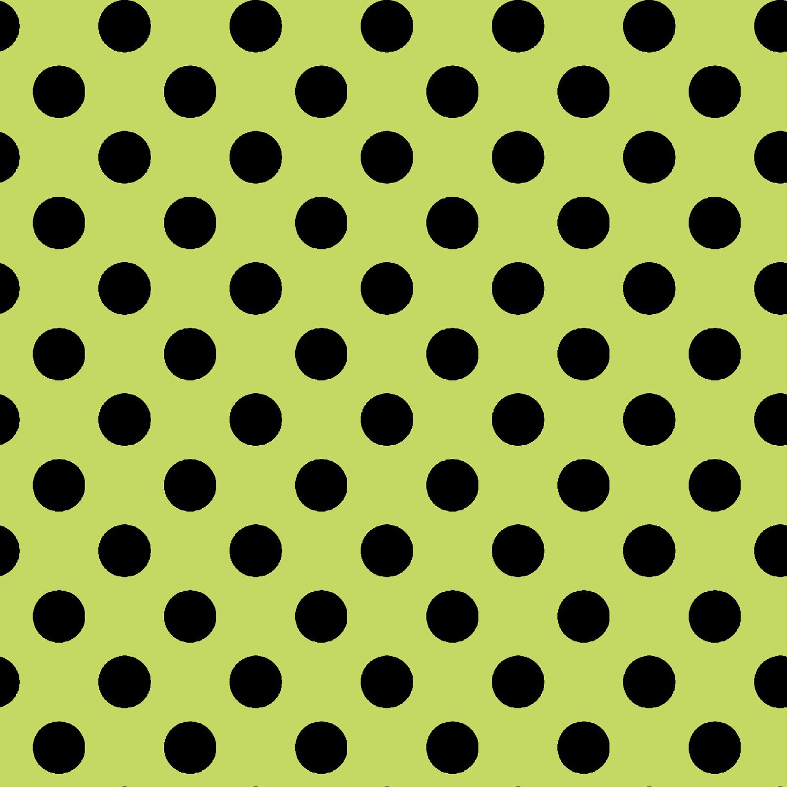 Broomhilda's Bakery - Dots - Lime/Black