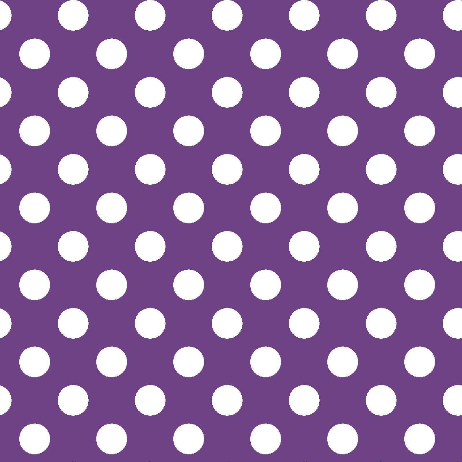 Broomhilda's Bakery - Dots - Purple/White