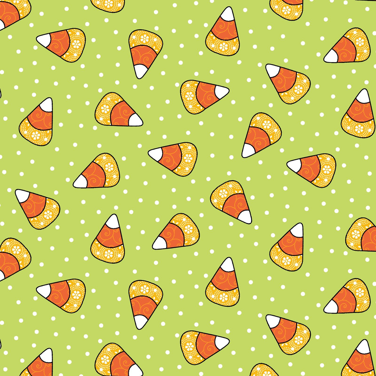 Broomhilda's Bakery - Candy Corn Dots - Lime