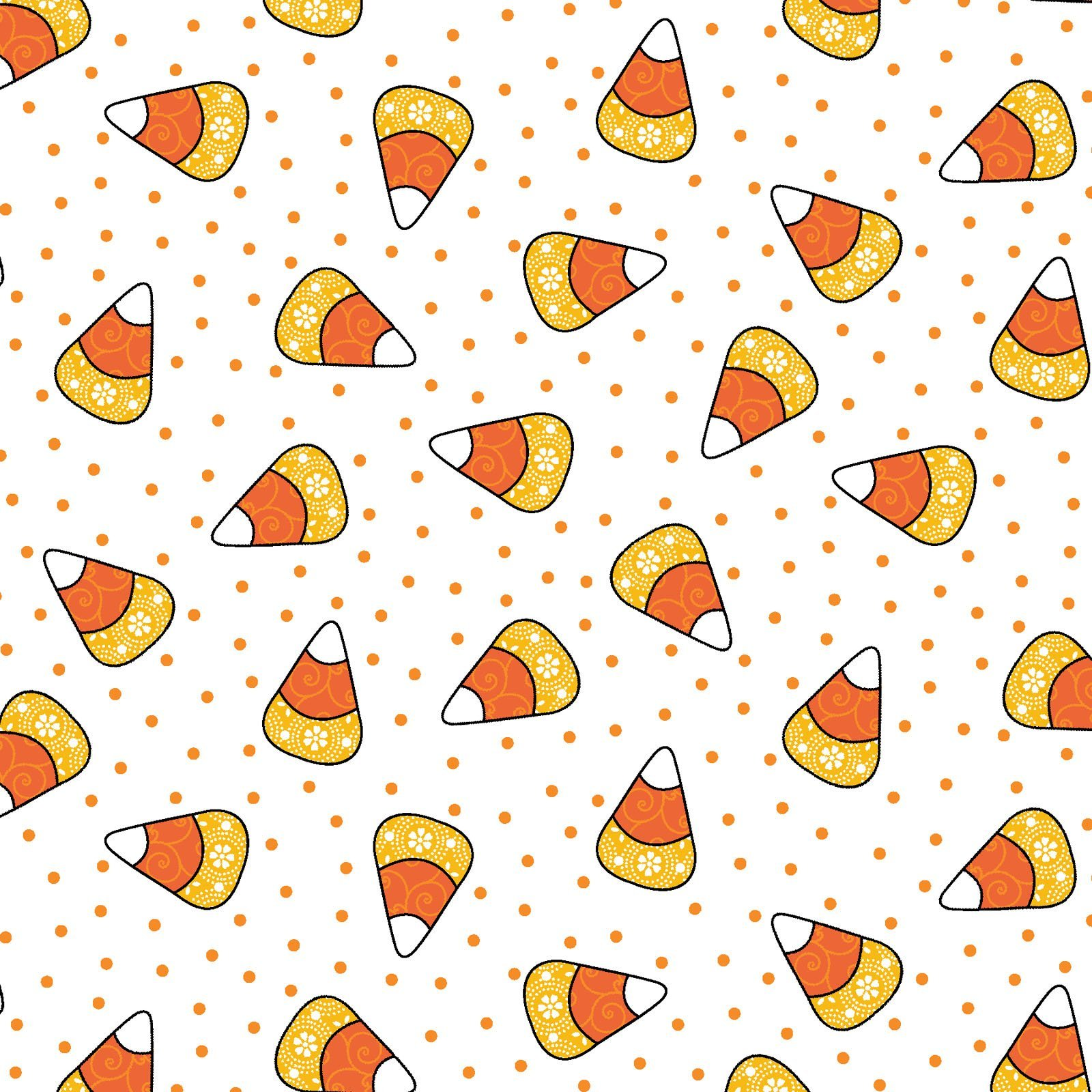 Broomhilda's Bakery - Candy Corn Dots - Ghostly White