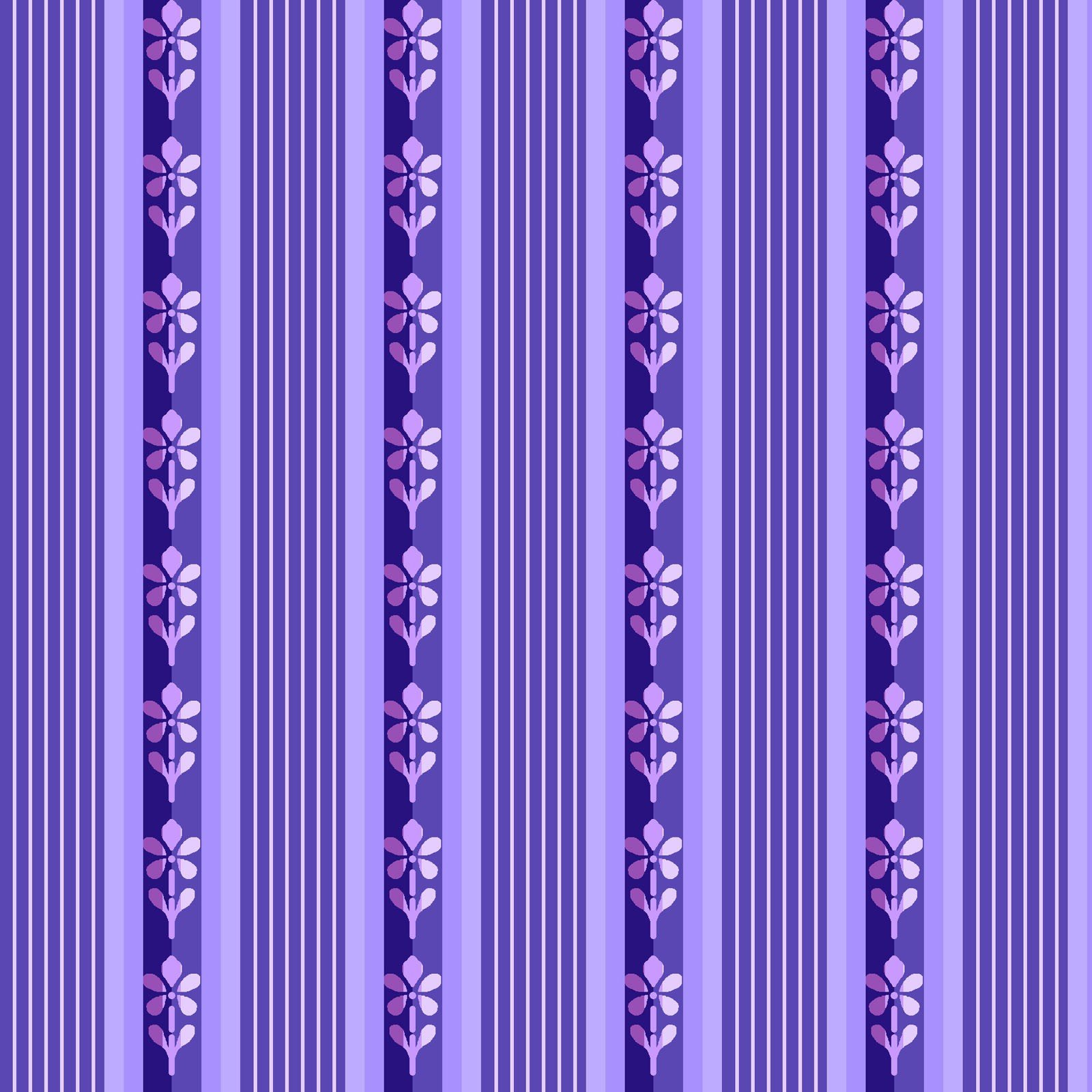 Emma's Garden - Little Stripe - Purple