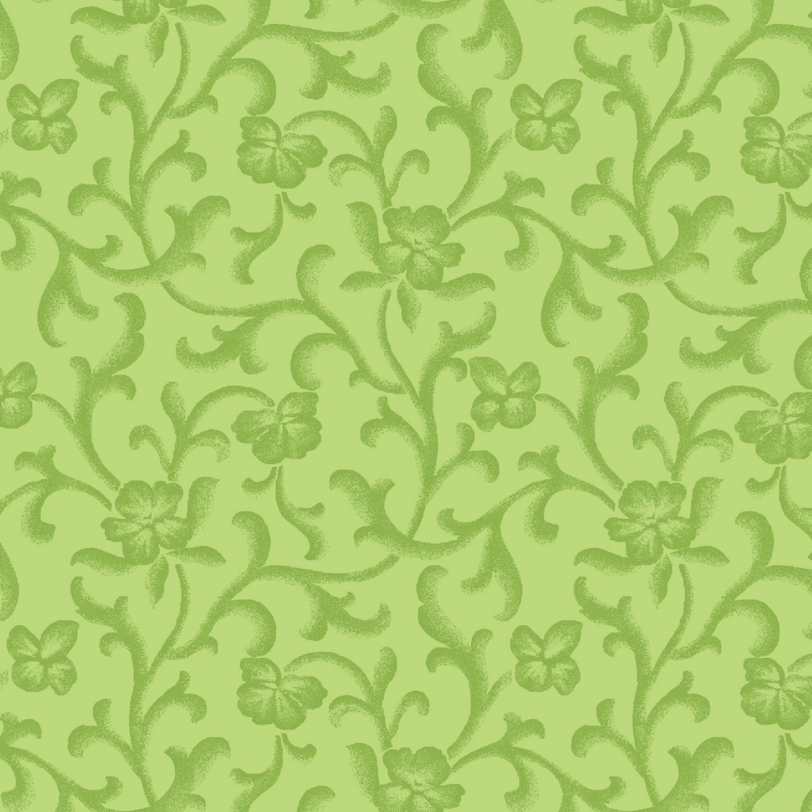 Emma's Garden - Tonal Scroll - Green