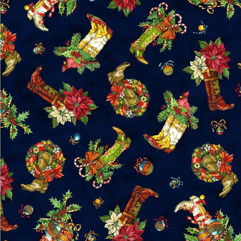 Noel - Christmas Boots - Blue