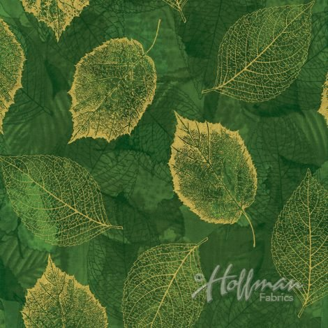 Falling For You - Leaves - Evergreen/Gold