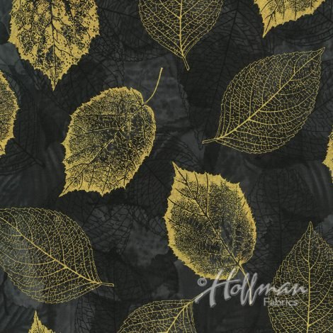 Falling For You - Leaves - Black/Gold