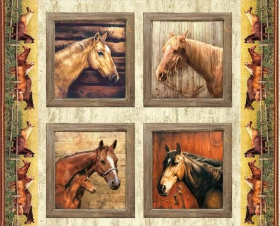 Hold Your Horses - Pillow Panel