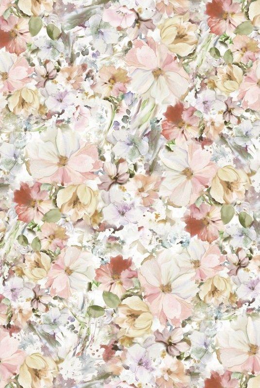 Arabesque Floral Wide - Pink (108 Wide)