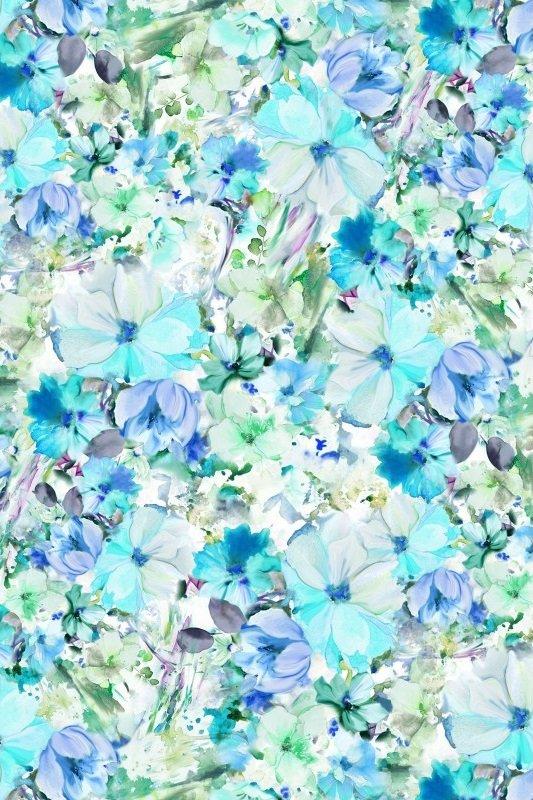 Arabesque Floral Wide - Teal (108 Wide)