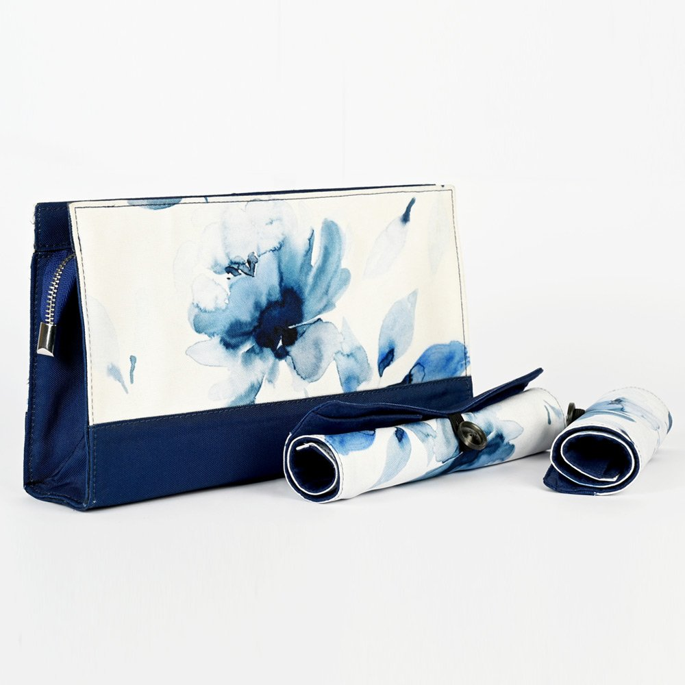 Blossom Project Pouch with Roll-On Pouches