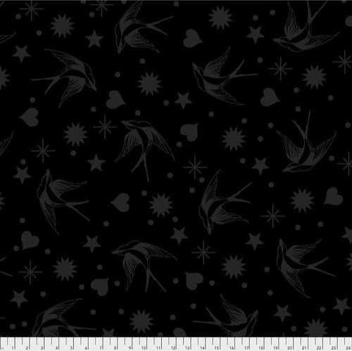 Linework - Fairy Flakes - Ink (Remnant: 1-7/8 yds)