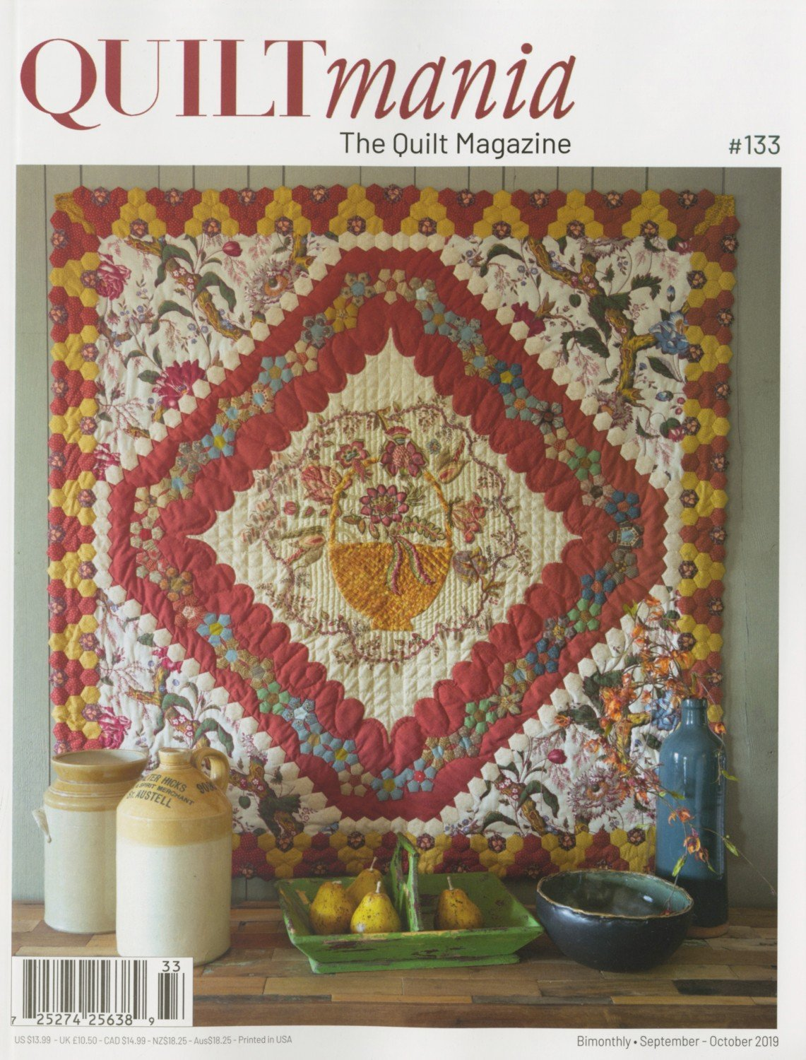 Quiltmania No. 133 The Quilt Magazine (September - October 2019)
