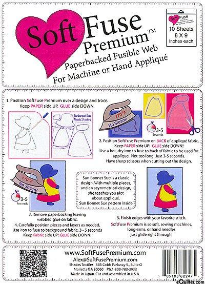 Soft Fuse Premium Fusible Web (8 x 9)