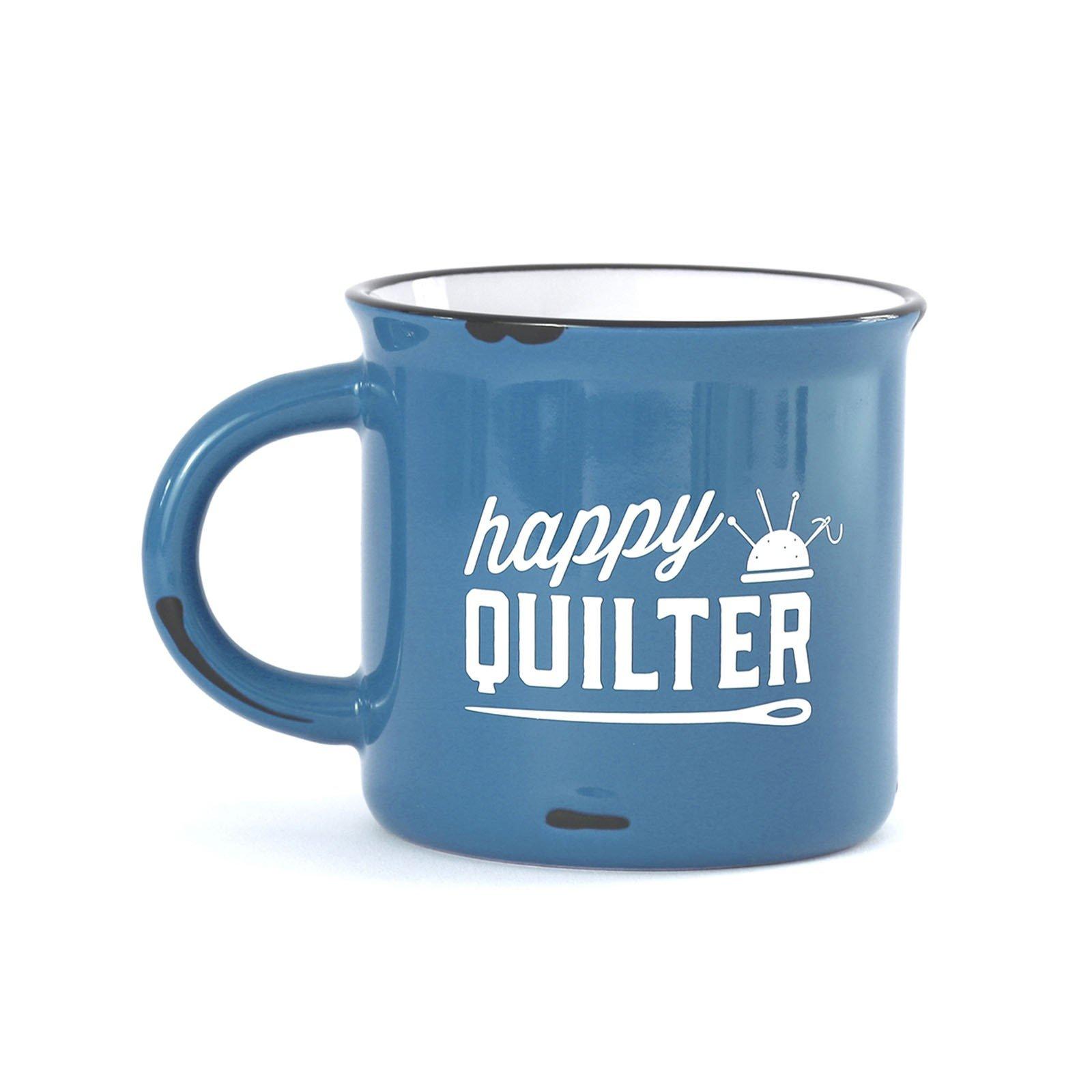 Quilt Happy - Happy Quilter Camp Mug