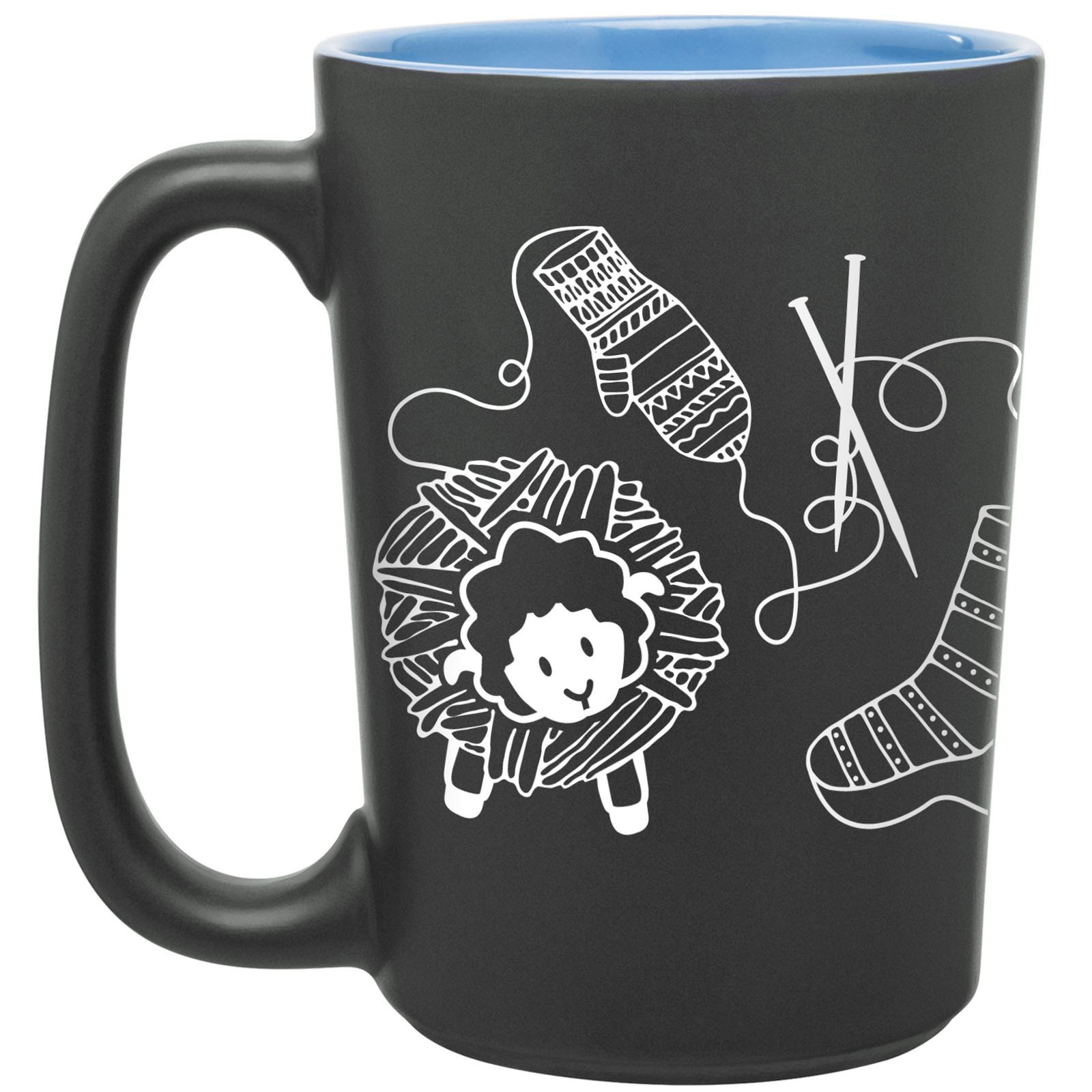 Knitting Scribbles Mug