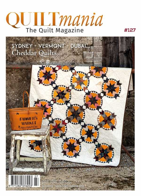 Quiltmania No. 127 The Quilt Magazine (September - October 2018)