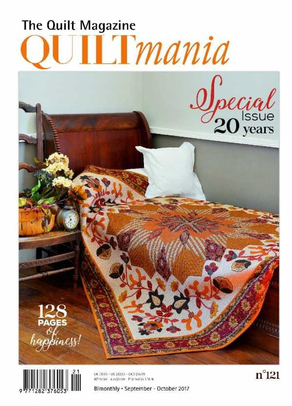 Quiltmania No. 121 The Quilt Magazine (September - October 2017)