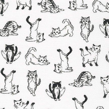 Animal Club - Yoga Kitties - White