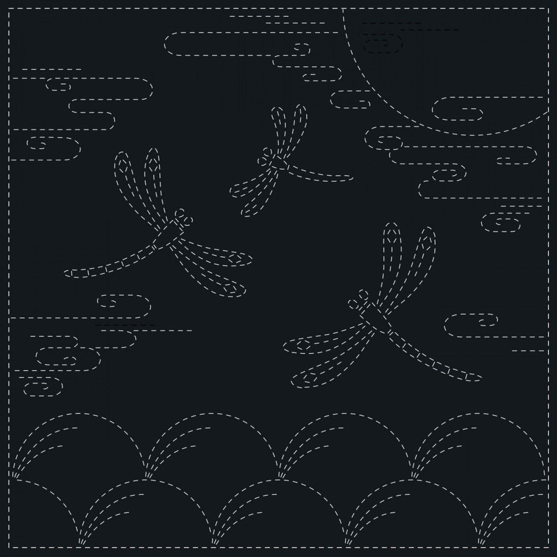QH Textiles Sashiko Cloth - Autumn - Navy