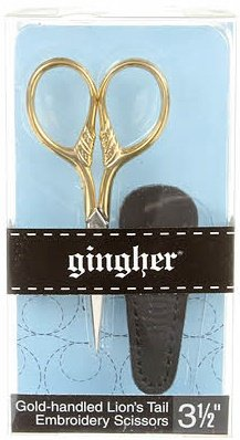 Gingher Gold-handled Lion's Tail Embroidery Scissors - 3-1/2