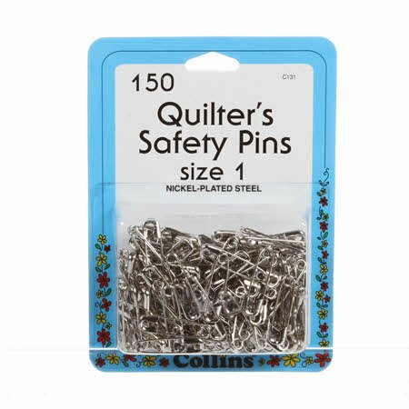 Quilter's Safety Pins - Size 1 - 1-1/16 (150 ct)