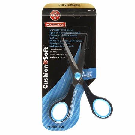 Cushion Soft Scissor - Hobby/Craft - Navy/Light Blue (5-1/2)