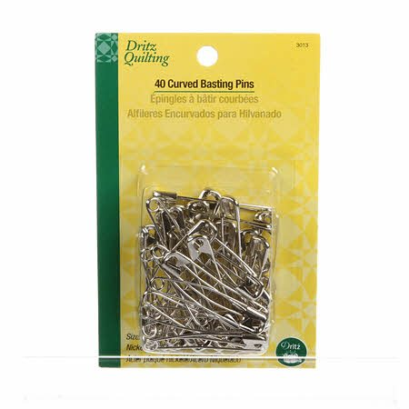 Dritz Curved Basting Pins - Size 3 (40 ct)