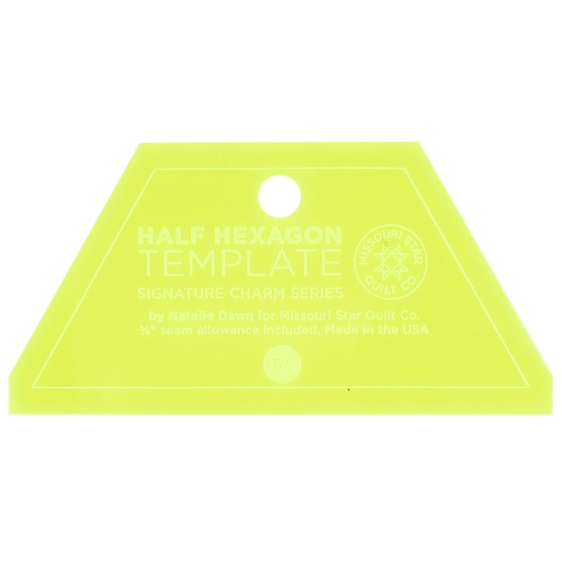 Missouri Star Half-Hexagon Template - Small