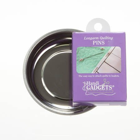 Handy Helpers 4 Magnetic Pin Bowl with Bonus Box of Handi Quilter Quilting Pins