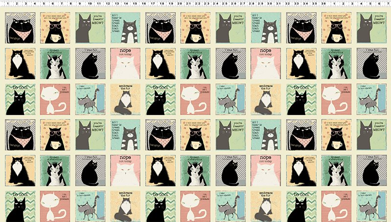 Snarky Cats - Blocks - Cream