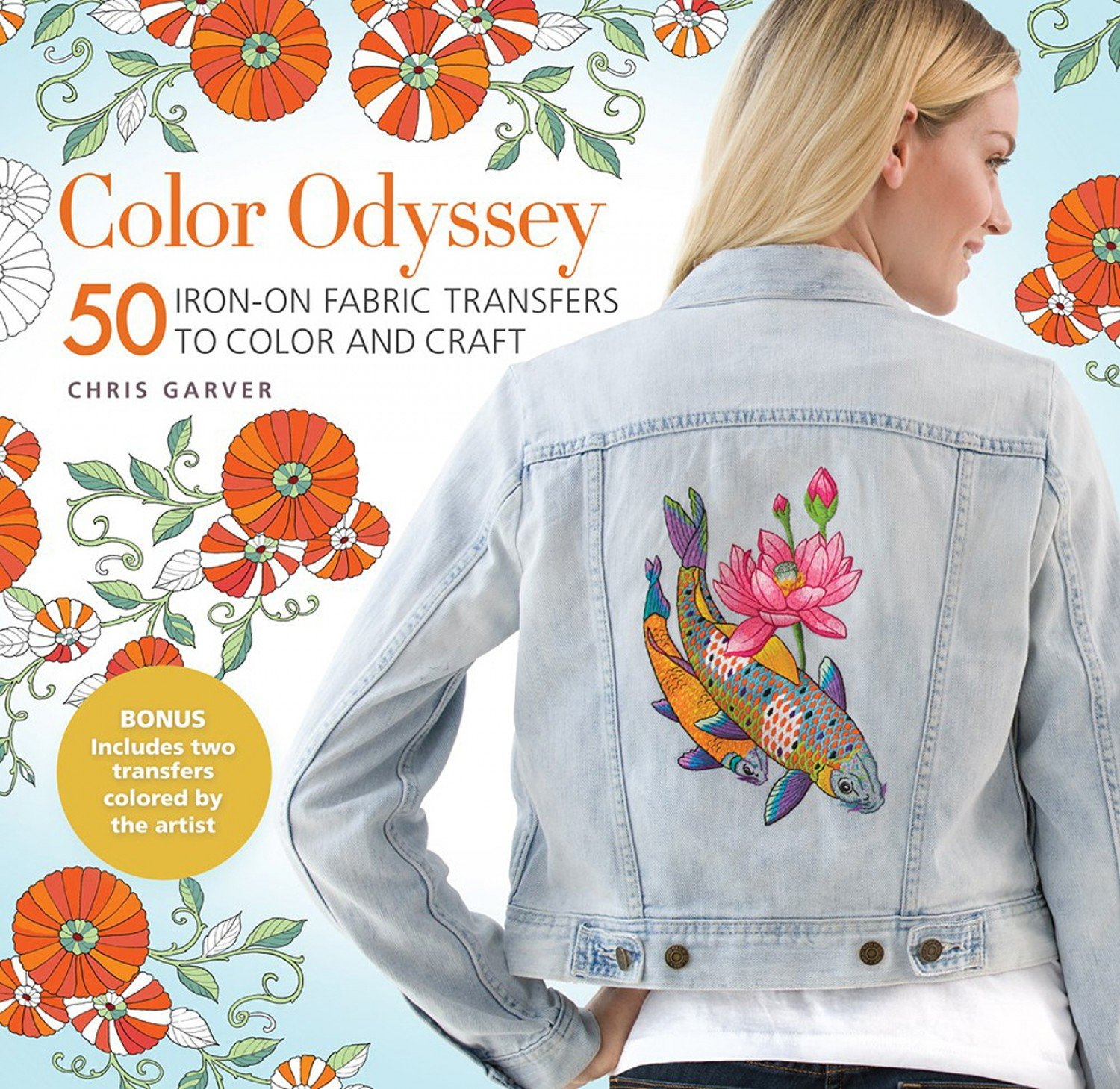 Color Odyssey: 50 Iron-On Fabric Transfers to Color