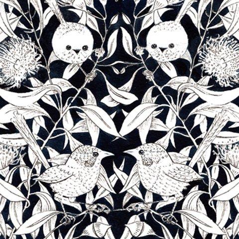 Wrens & Eucalyptus - Black