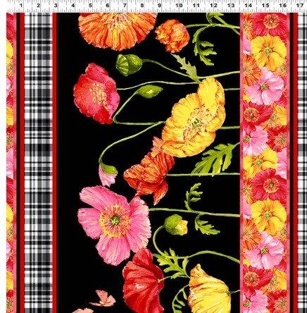 Poppy Garden - Poppy Border - Black