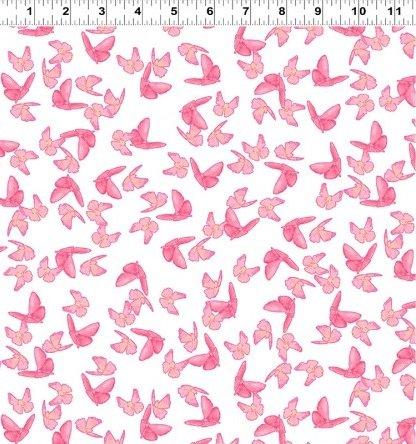 Poppy Garden - Butterflies - White