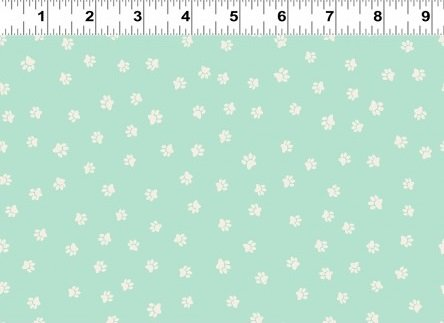 Snarky Cats - Paw Prints - Light Turquoise