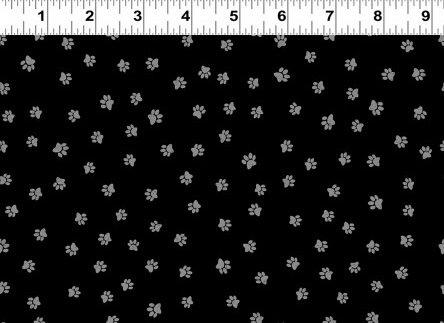 Snarky Cats - Paw Prints - Black