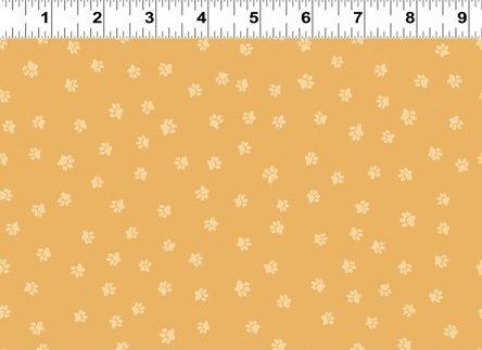 Snarky Cats - Paw Prints - Dark Gold