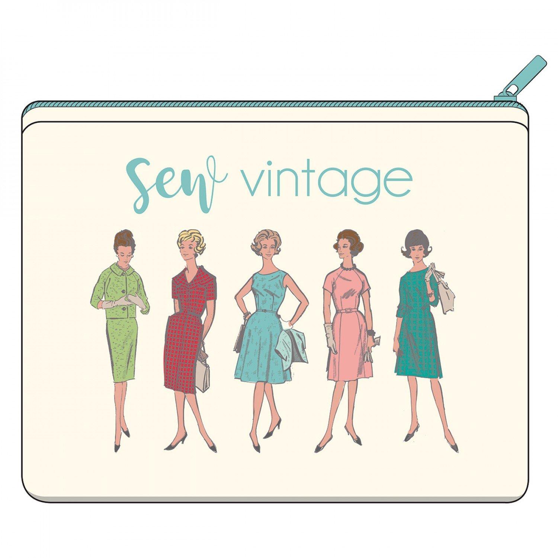 Canvas Zipper Bag - Sew Vintage