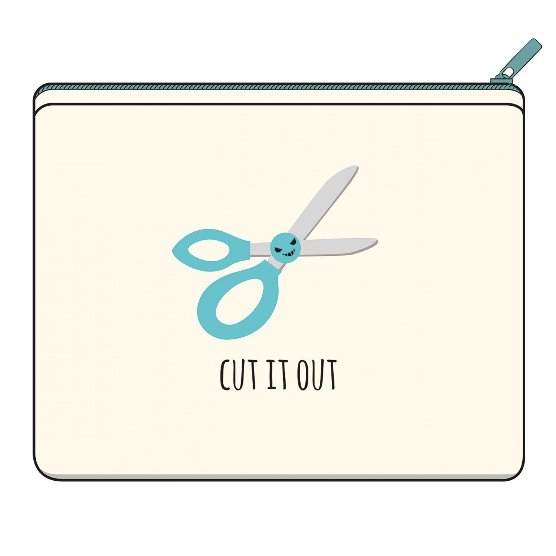 Canvas Zipper Bag - Cut It Out